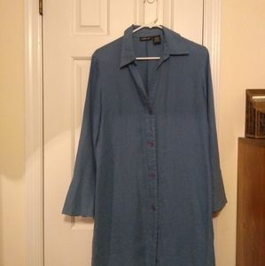 Willi Smith linen bell sleeve shirt dress